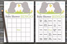 60 elephant baby shower bingo,elephant Bingo Cards, jungle baby shower Bingo Card ,Printable Blank & PreFilled Cards, BG-193 Baby Bingo, Baby Shower Bingo, Baby Shower Printables, Star Baby Showers, Elephant Baby Showers, Baby Elephant, Blank Bingo Cards, Free Diapers, Shower Gifts