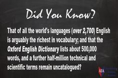 TESOL ESL [ English Facts ] Over 2,700