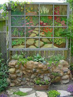 Painted Window Panel