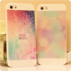 Pastel galaxy phone cases