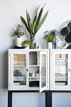 Plants & Minimal Storage // Nicole Franzen Photography #homedecor #interiordesign