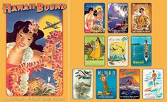 Hawaii Bound - Hawaiian Boxed Postcards. Stamped postcards in welcome bags