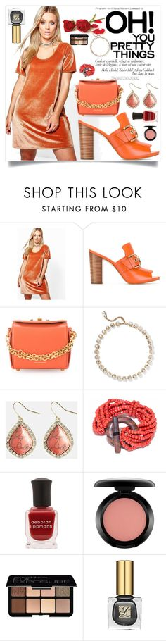 """""""Fashion forever"""" by camry-brynn ❤ liked on Polyvore featuring Boohoo, MICHAEL Michael Kors, Alexander McQueen, Valentino, Avenue, Deborah Lippmann, MAC Cosmetics and Smashbox"""