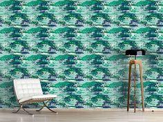 Design #Tapete Inselparadies Grün