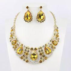 26349560bb2 Mode Indienne Bijoux Collier En Cristal et Boucles D oreilles Ensembles de  Bijoux de Mariée