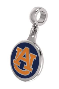 Auburn TIGERS jewelry and charms made in solid sterling silver with enameled background. Auburn charms can be worn on a chain or dangle them from a bracelet. $59
