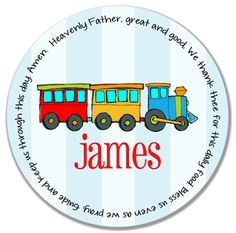 Unique Baptism Gift  Personalized Kids Melamine by GraceSettings, $25.00