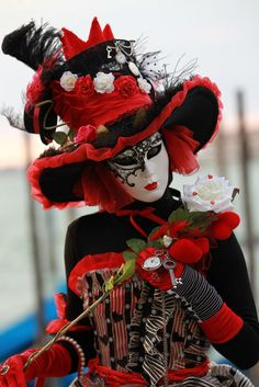 Pretty in red and black at Carnaval de Venise 2011| Flickr - Photo Sharing!