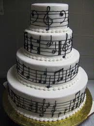 music themed wedding cake | For more music themed wedding inspiration, visit the Partease ...