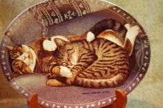 So Sweet! Kitty Cat Collector Plate by Persis Clayton Weirs-Sweet Slumber at It's So Me on Bonanza