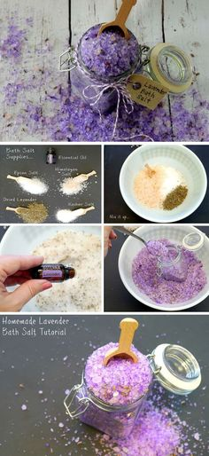 Lavender Bath Salt | 25+ DIY Christmas Gifts for Friends & Family