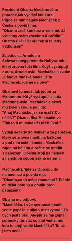 Prezident Obama hledá nového poradce,tak vyhlásí konkurz.. | torpeda.cz - vtipné obrázky, vtipy a videa Good Jokes, Funny Jokes, Jokes Quotes, Memes, Try Not To Laugh, Obama, Slogan, Quotations, Comedy