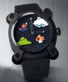 This Mario watch is the latest game-themed design from Romain Jerome, following…