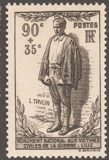 "1939 semi-postal 90c + 35c black brown  ""Civilian facing Firing Squad"" Quick History The Third French Republic existed from 1870 until 1940 and the conquest by Germany. France is the largest western European country, and in 1936 the population was 42,000,000. Paris is the capital.  The State is governed under the fundamental document of the French Revolution, The Declaration of the Rights of Man and of the Citizen. This Declaration derives from the philosophical thinking of the Age of…"