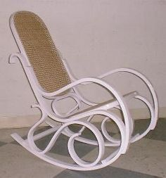 Bentwood Rocking Chair. I just bought one today and I'm so excited to paint it white!