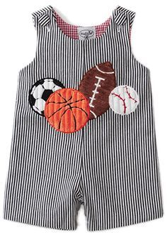 Birthday gift:Mud Pie Baby-boys Newborn All Boy Sports Shortall, Multi Colored, Months Boys Sewing Patterns, Baby Dress Patterns, Sewing For Kids, Baby Sewing, Baby Outfits, Toddler Outfits, Kids Outfits, Toddler Rompers, Baby Boy Fashion