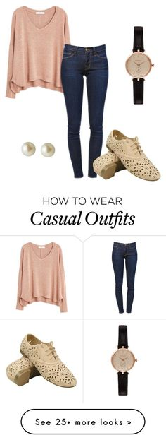 Casual by amirahtaylor on Polyvore featuring MANGO, Frame Denim, Carolee and Barbour