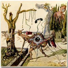 Купить товарA Surreal Painting Salvador Dali Psychedelic art silk Poster в категории Рисование и каллиграфияна AliExpress. A Surreal Painting Salvador Dali Psychedelic art silk Poster
