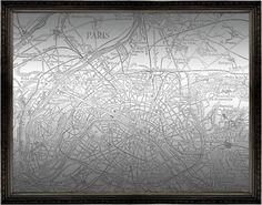 Paris Map Mirror (1217)