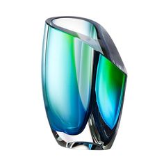 Mirage Vase Blue Green Sm
