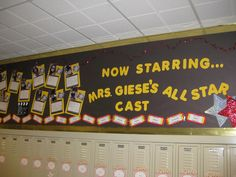 All Star Cast (BB) Display: Outside of Classroomm