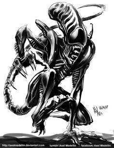 Daily sketch 16 April 2017  Alien Xenomorph, Engineers, Sketch, Fandoms, Fictional Characters, Drawings, Sketch Drawing, Sketches, Fantasy Characters