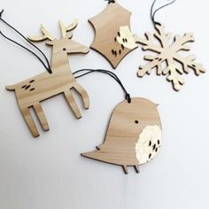 rudolph & robin - xmas ornaments by Abigail Brown (UK)