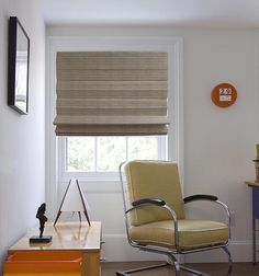 Blindsgalore®️️ Faux Natural Woven Shades: Shown in Sand Mid Century House, Mid Century Style, Mid Century Design, Woven Wood Shades, Glass Front Door, Ranch Style, Mid Century Furniture, Window Treatments, Modern Architecture