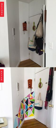Before & After: Blank Entryway Gets a Bright, Easy Makeover