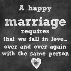 the recipe for a happy marriage