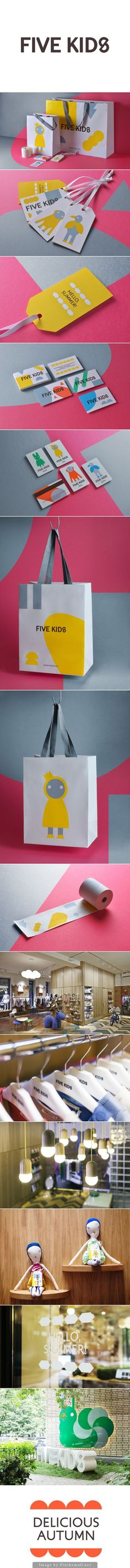 Five Kids on Behance this looks like a fun place to shop #identity #packaging #branding PD