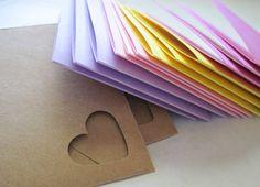 Pastel Mini Note Cards with Kraft Envelopes Set of 12 par kattailz