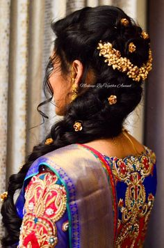 Easy Bridal Hairstyles For Engagement Ceremony Hairstyle By Vejetha For Swank Fishtail Braid Bridal S Hair Styles Indian Hairstyles Indian Bridal Hairstyles