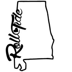 Download Font Alabama A for silhouette | Alabama Outline clip art ...