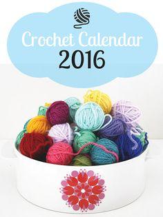 Crochet Calendar 2016   Happy in Red
