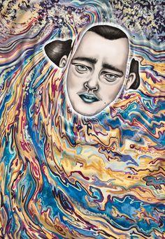 NOT DROWNING - illustration by Tara Dougans