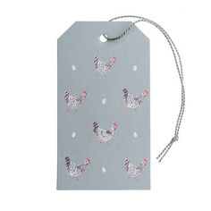 We think that wrapping up presents is just as much fun as opening them and our lovely range of Gift Tags will make that gift extra special!  These Chicken Gift Tags come in a pack of ten with grey thread ties. The reverse of the tags has been left blank for your message.  These adorable gift tags feature six Speckled Maran hens on a sage grey background. Perfect if you're wrapping something up in our Chicken Gift Wrap. Have a peek at the matching Ribbon options too!