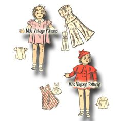 Vintage-Shirley-Temple-Patsy-Ann-Composition-Doll-Clothes-Pattern-22