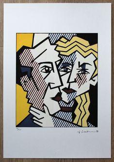Roy Lichtenstein, Signature Stamp, Studio, Couples, Art For Sale, Etsy Shop, Paper, Prints, Handmade
