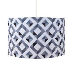 Grey Geometric Handmade 30cm Lamp Shade – hunkydory home