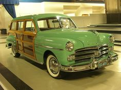 1950 Dodge Coronet Woody Station Wagon Woodpanel sides and white walls. Gasp... What a car!