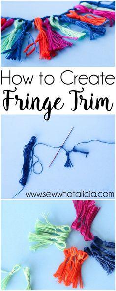 Handmade Fringe Trim