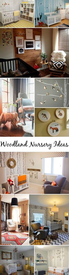 Woodland Nursery Ideas - from modern and chic to soft and classic, Project Nursery is sharing 12 FAB, rustic woodland nurseries!