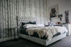 """""""Woods"""" Cole And Son, Woods, Collections, Contemporary, Bed, Furniture, Home Decor, Decoration Home, Stream Bed"""