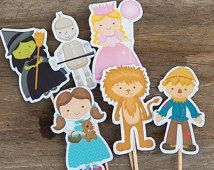 Wizard of Oz Party - Set of 12 Assorted Wizard of Oz Cupcake Toppers by The Birthday House