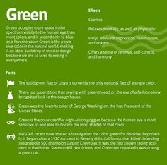 The Psychology of Green!