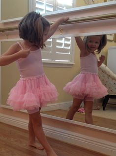 I think she digs it. How to create a ballet studio for your tiny dancers.