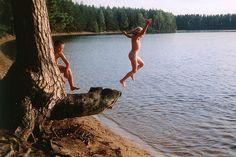 Baden im See (bathing at the lake)