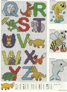 Animal Alphabet 3 Cross Stitch Pattern