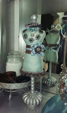 Small closet makeover. Necklace and bracelet holder.